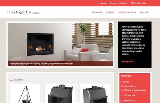 Lugarnica - web shop